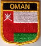 Oman Embroidered Flag Patch, style 07.